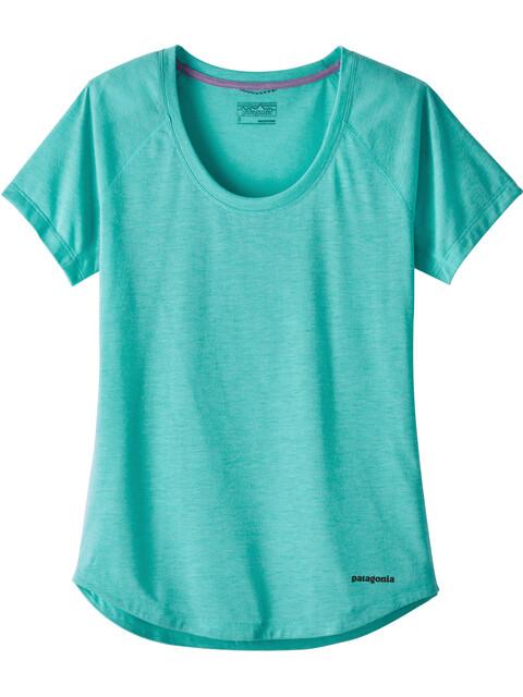 Patagonia W's Nine Trails SS Shirt Strai Blue